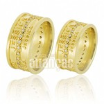 Alianças de Noivado e Casamento em Ouro Amarelo 18k 0,750 FA-599