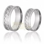 Aliança de Noivado e Casamento em Ouro Branco 18k 0,750 FA-619-B