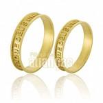 Alianças de Noivado e Casamento em Ouro Amarelo 18k 0,750 FA-663