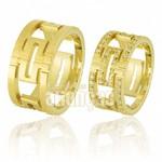 Alianças de Noivado e Casamento em Ouro Amarelo 18k 0,750 FA-673