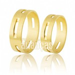 Alianças de Noivado e Casamento em Ouro Amarelo 18k 0,750 FA-204
