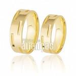 Alianças de Noivado e Casamento em Ouro Amarelo 18k 0,750 FA-207
