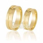Alianças de Noivado e Casamento em Ouro Amarelo 18k 0,750 FA-209