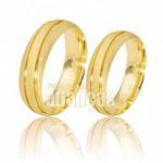 Alianças de Noivado e Casamento em Ouro Amarelo 18k 0,750 FA-480