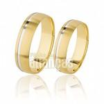 Alianças de Noivado e Casamento em Ouro Amarelo 18k 0,750 FA-504