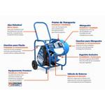 Lavadora Profissional JET 400 Completa c/ Motor - Monofásico IP 44 - 2 CV