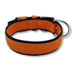 Coleira Para Cachorro Fit Lite (laranja e preto)
