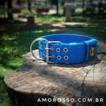 Coleira Para Cachorro Amorosso (azul e preto)