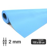 PORON Esportivo de retorno rápido Azul 2 mm - 0,69 x 1 Metros