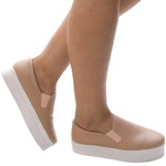 Slip On Feminino Plataforma Assis Rosê Any Shoes