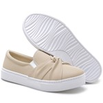 Slip On Feminino Ravenna Nude Laço Any Shoes