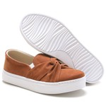 Slip On Feminino Trieste Nó Caramelo Any Shoes