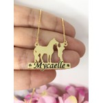 Colar Personalizado Banhado a Ouro com Cavalo