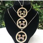Mandala Zircônias Com 1 ou 2 Filhos Banhada a Ouro