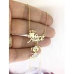 Colar banhado a ouro Alice