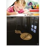 Colar personalizado banhado a ouro com escrita de filho (a)