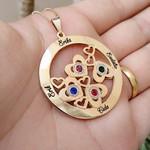Colar Mandala Com Até 6 Nomes Banhada a Ouro