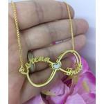 Gargantilha Mandala Simples Em Banho de Ouro Infinito