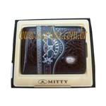 CA-719 - Carteira Masculina Mitty Porta Notas Cafe em Couro Legitimo