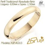 AL015- Par de Aliança de Ouro 18K de Casamento Tradicional