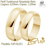 AL021-Aliança em Ouro 18k tradicional