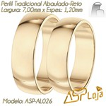 AL026-Par de Aliança de Casamento e Noivado Tradicional de Ouro 18K