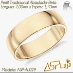 AL029-Par de Aliança de Casamento e Noivado Tradicional de Ouro 18K