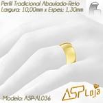 AL036-Aliança de Ouro Tradicional Para Casamento ou Noivado