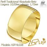 AL038-Aliança de Ouro Tradicional Para Casamento ou Noivado