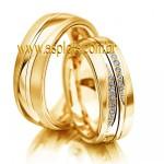 Aliança Elegante de Casamento ou Noivado interno anatômica externo abaulado 7,5mm-ASP-AL-07