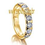 Aliança Diamantada Agregada de Casamento ou Noivado em ouro amarelo 18K liga 750 largura 4.0mm-ASP-AL-10