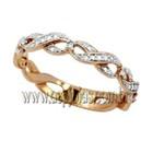 Aliança de casamento ou noivado linha infinito em ouro 18K-750 largura 4,5 mm-ASP-AL-107