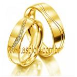 Aliança de casamento ou noivado diamantes condensados ouro amarelo 18K 750 anatomica abaulada 6,0mm-ASP-AL-11