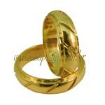 Aliança de noivado ou casamento fresada ouro amarelo 18K cravada com diamantes largura de 5,50 mm-ASP-AL47