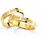 Aliança reta de casamento ou noivado personalizada semi confort ouro amarelo 18K-750 largura 4,00mm-ASP-AL-58