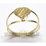AN-4156-Anel de Ouro 18K Com Coração Diamantado Filegrama