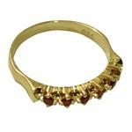 Anel Meia-Aliança Pedra Rubi em Ouro 18K-750