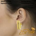 Brincos Argola de Ouro 18K Com Diamante-BR505