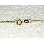 CO-13-Corrente de Ouro 18k Piastrini 1,8mm-45,0cim-2,75g
