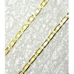 CO-12-Corrente de Ouro 18k Piastrini 1,5mm-50,0cm-2,10g