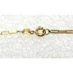 CO-09-Corrente de Ouro 18k Veneziana 1,5mm-50,0cm-4,40g