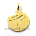 Pingente de Ouro 18k Símbolo de Formatura Biologia