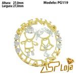 Pingente de Ouro 18K Mandala Casal de Filhos-PG119