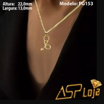 Pingente de Ouro 18K Símbolo de Formatura Estetoscópio-PG153