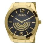 Relógio Feminino Euro Linha Fan Dourado - EU2034AN/4P -ASP-RLG-2792