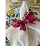 Porta Guardanapo Orquídea Dupla Vinho