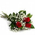 Buquê de 3 Rosas Vermelhas