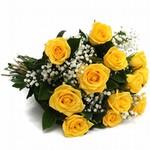 Buquê de Rosa Amarela - 15 Unidades