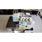 Máquina de Costura Overloque Ponto Cadeia Com Transporte Superior Kingtex Usada