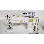 Máquina de Costura Reta Transporte Duplo Eletrônica Sunstar Usada